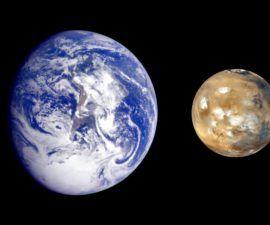 Escenarios de cambio de vida para la Tierra y Marte -
