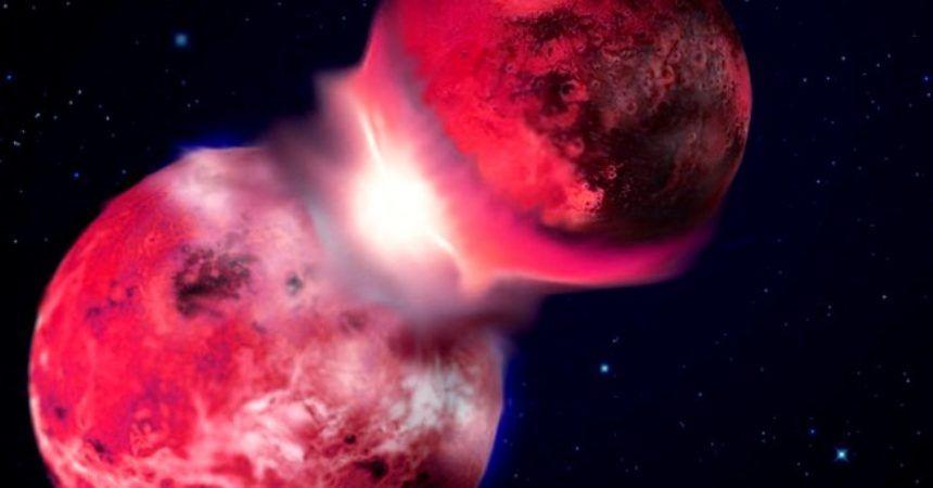 El violento nacimiento de la luna