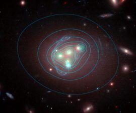 Parece que la materia oscura -la materia misteriosa que constituye la mayor parte de la materia en el universo- puede ser capaz de interactuar con otras partes de la materia oscura, y no sólo a través de la atracción de su gravedad.