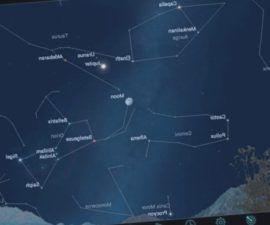 Las aplicaciones astronómicas de mapas de cielo como SkySafari 5, Starwalk 2 y Stellarium Mobile son fantásticas para mostrarte lo que hay en el cielo cada noche