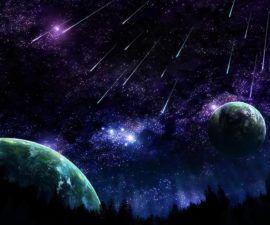 Lluvia de estrellas fugaces en el hemisferio norte